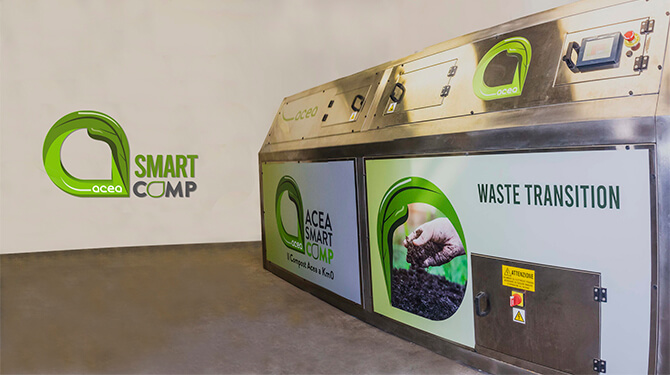 Acea Smart Comp, the mini composting plant tha transform the organic waste in compost