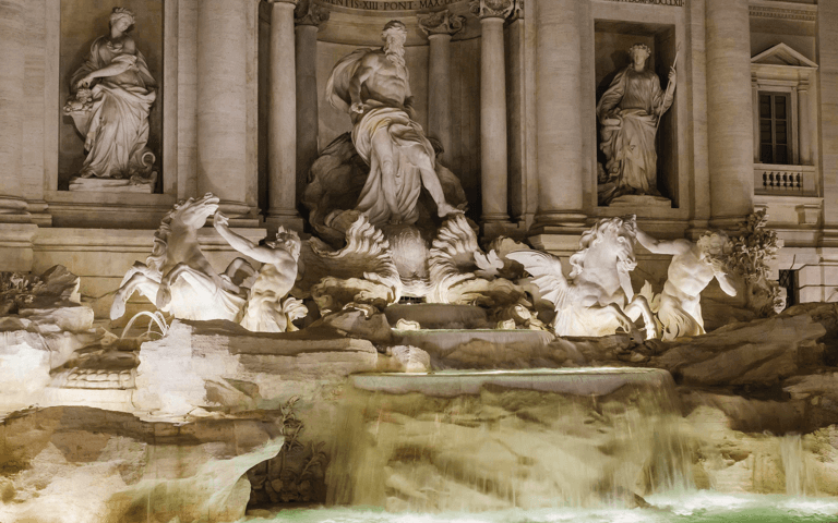 Acea's LED lighting for the Trevi Fountain