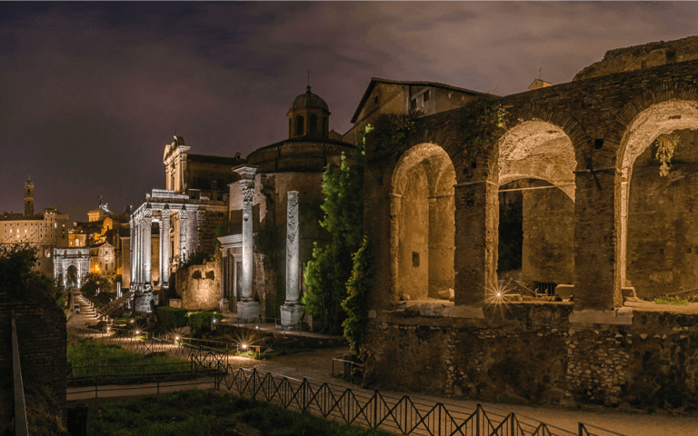 The commitment of Acea for the lights of the Roman Forum