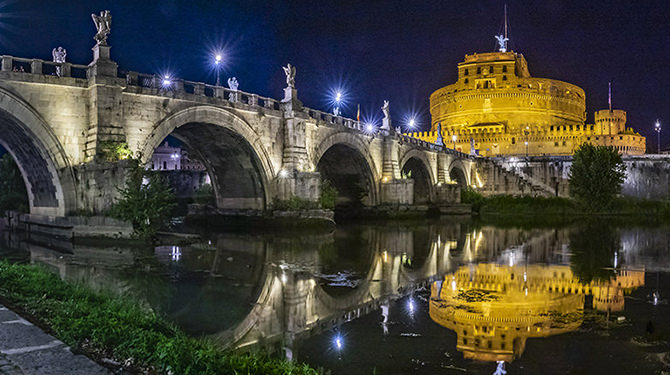 Lighting up the beauty of Rome