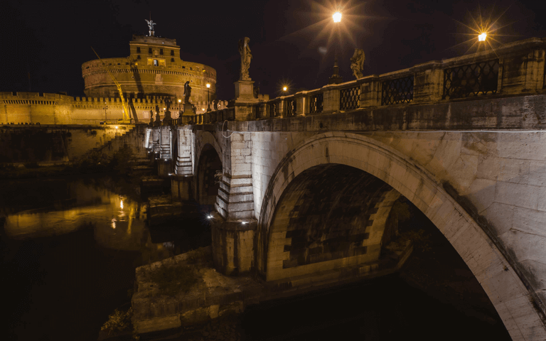 The lighting on the bridges over the Tevere river, Acea's role