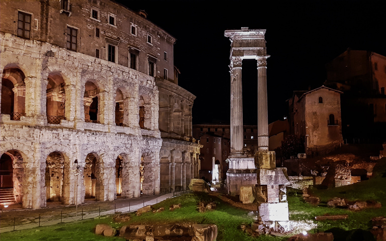 Acea's role in lighting up Rome's Theater of Marcellus
