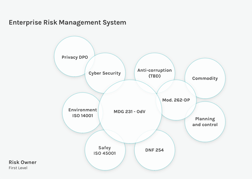 Diagram of the Enterprise Risk Management System of Acea Spa