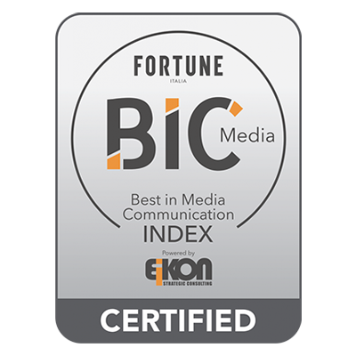 Acea SpA Group's Fortune Best in Media Communication Index 2020 certification logo