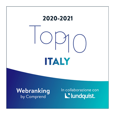 Logo for the Acea SpA Group's Webranking top 10 Italy 2020-2021 classification