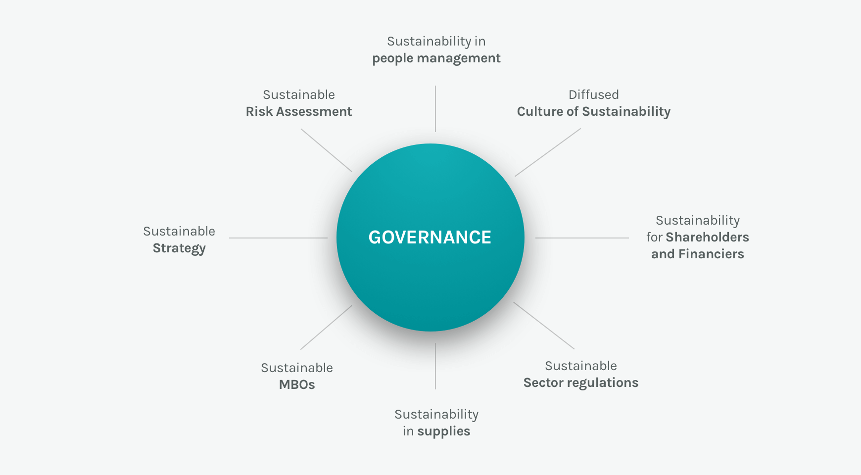 Representation of the integration of sustainability in Governance of the Acea Group
